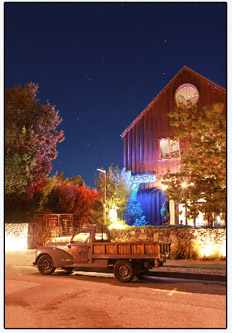 Picture of the venue in Sonoma County (Barndiva in Healdsburg) where Noah DJed Rich and Claudine's wedding.